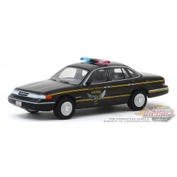 Ford Crown Victoria 1995 Police Interceptor - Ohio Highway Patrol  - Hot Pursuit 34 - 1-64 greenlight 42910 E  Passion Diecast