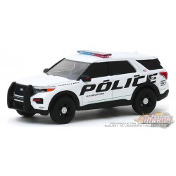 Ford Police Interceptor Utility 2020 Show Vehicle  - Hot Pursuit 34 - 1-64 greenlight 42910 F  Passion Diecast