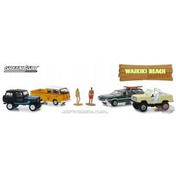 Waikiki Beach Summer Bash - Multi-Car Diorama - 1-64  greenlight  58050  Passion Diecast