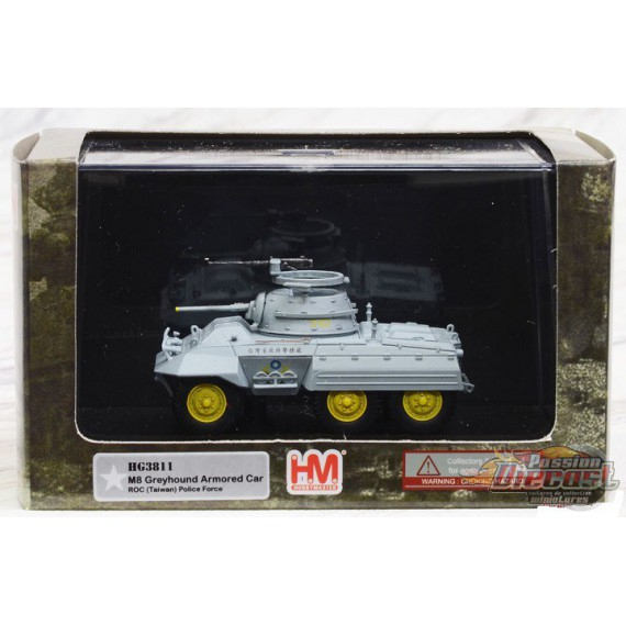 M8 Greyhound   Armored Car Taiwan Police Force, Hobby Master 1/72  HG3811 Passion Diecast