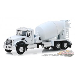 Mack Granite Cement Mixer Blanc -  Truck SD Trucks 8 - Greenlight  1.64 - 45080 B - Passion Diecast