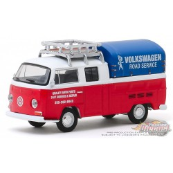 1976 Volkswagen T2 Type 2 Double Cab Pick-Up  with Canopy -  Club Vee-Dub 10 - Greenlight 1/64 - 29980 E PASSION DIECAST
