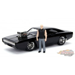 Dom's Dodge Charger R/T with Diecast Dom Figure -  Fast and Furious-  Jada 1/24 - 30737  -  Passion Diecast