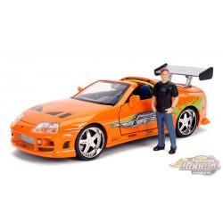 Brian's Toyota Supra with Diecast Brian Figure - Fast and Furious -  Jada 1/24 - 30738 -  Passion Diecast