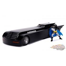 Batmobile with Batman Figure - Batman: The Animated Series -  Jada 1/24 - 30916 -  Passion Diecast