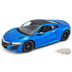 2018 Acura NSX in Metallic Blue - Maisto 1/24 - 31234 BL  - Passion Diecast