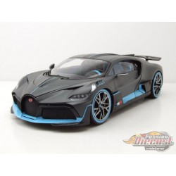Bugatti DIVO in Charcoal Grey and Blue - 1:18 Bburago 18-11045 DG  -  Passion Diecast