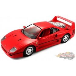 Ferrari F40 Red  -  Bburago 1/24 -  26016 -RD  - Passion Diecast
