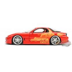Orange Julius' Mazda RX-7 - Fast & Furious -  Jada 1/24 - 30747 -  Passion Diecast