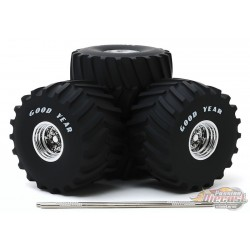 Goodyear - 66-Inch Monster Truck Wheel and Tire Set Greenlight  1/18 13547 - Passion Diecast