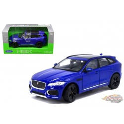 Jaguar F-Pace  Blue SUV  -  Welly 1/24 - 24070  - Passion Diecast