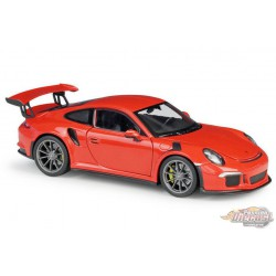 Porsche 911 GT3 RS Orange  2016  -  Welly 1/24 - 24080  - Passion Diecast