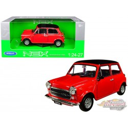 Mini Cooper 1300 Red  -  Welly 1/24 - 22496  -  Passion Diecast  -  Passion Diecast