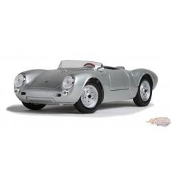 Porsche 550 A Spyder Silver -  Welly 1/18 - 31843 -  Passion Diecast