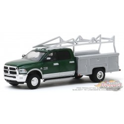 2018 Ram 3500 Dually Service Bed and Ladder Rack - Dually Drivers  3  - 1-64  Greenlight - 46030 C Passion Diecast