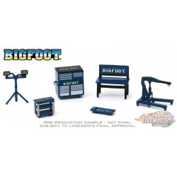 Bigfoot Monster Truck Shop Tool Accessories Pack Series 2  -  Greenlight 1/64 - 16040 A -  Passion Diecast
