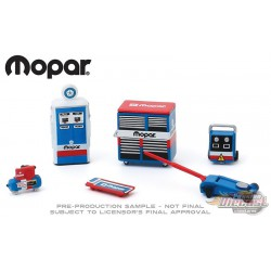MOPAR Parts and Service Shop Tool Accessories Pack Series 2  -  Greenlight 1/64 - 16040 B-  Passion Diecast