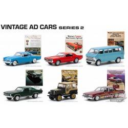 Vintage Ad Cars Series 2 Assortment  1-64 greenlight -  39030  -  Passion Diecast