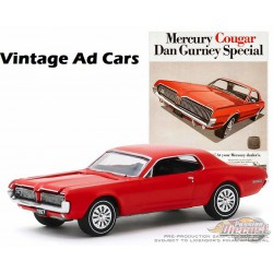 1967 Mercury Cougar - Dan Gurney Special -Vintage Ad Cars Series 2 - 1-64 Greenlight 39030 B - Passion Diecast
