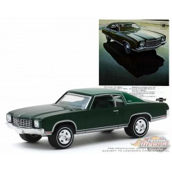 1970 Chevrolet Monte Carlo Green  -Vintage Ad Cars Series 2 - 1-64 Greenlight 39030 D  -  Passion Diecast