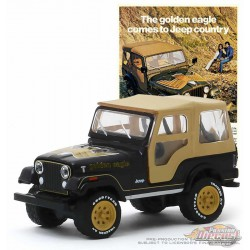 1977 Jeep CJ-5 Golden Eagle Green  -Vintage Ad Cars Series 2 - 1-64 Greenlight 39030 E  -  Passion Diecast
