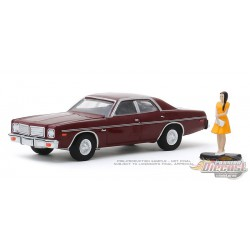 1976 Dodge Coronet with Woman in Dress - Hobby Shop Series 8 - 1/64 Greenlight-  97080 C - Passion Diecast