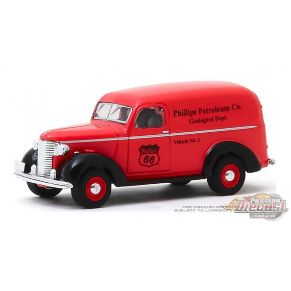 1939 Chevrolet Panel  Phillips 66 Phillips Petroleum - Running on Empty Series 10 - 1-64 greenlight - 41100 A - Passion Diecast