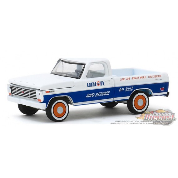 1968 Ford F-100 Pickup - Union 76 Auto Service - Running on Empty Series 10 - 1-64 greenlight - 41100 C -  Passion Diecast
