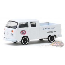 "1976 Volkswagen T2  Pickup  STP ""The Racer's Edge"" - Running on Empty Series 10 - 1-64 greenlight - 41100 D -  Passion Diecast"