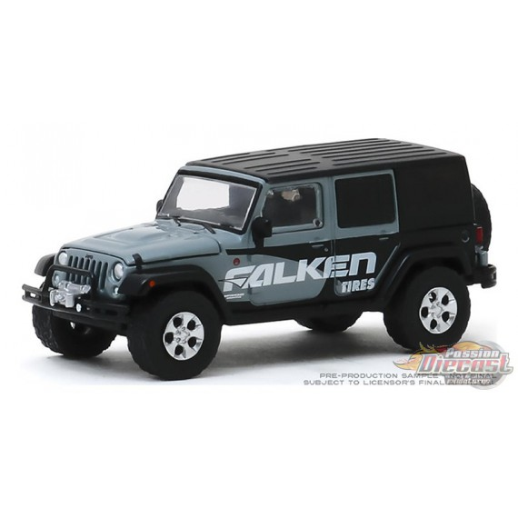 2014 Jeep Wrangler Unlimited - Falken Tires - Running on Empty Series 10 - 1-64 greenlight - 41100 E - Passion Diecast