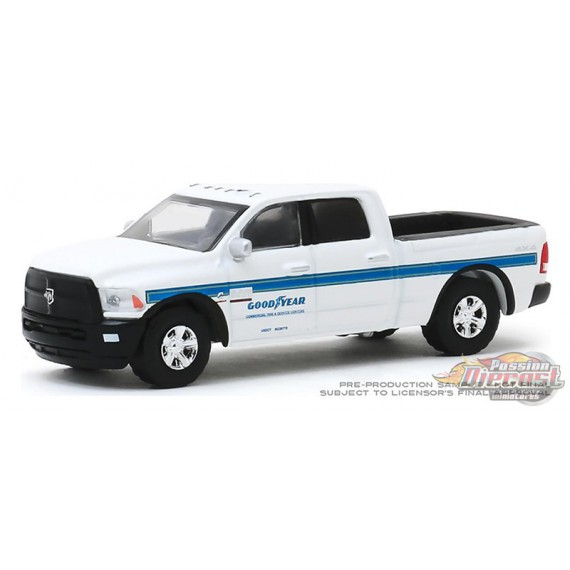2018 Ram 2500 Goodyear Commercial Tire & Service   - Running on Empty Series 10 - 1-64 greenlight - 41100 F -  Passion Diecast