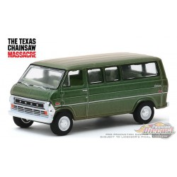 1972 Ford Club Wagon - The Texas Chainsaw Massacre - Hollywood Série 27 1-64  greenlight  - 44870 A -  Passion Diecast
