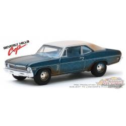 1970 Chevrolet Nova - Beverly Hills Cop   - Hollywood Série 27 - 1-64  greenlight  - 44870 D - Passion Diecast