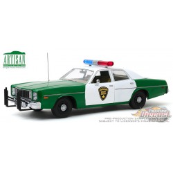 1975 Plymouth Fury  - Chickasaw County, Mississippi Sheriff - Greenlight  1/18 Artisan  - 19076 - Pasion Diecast