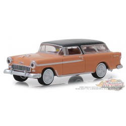 1955 Chevrolet Nomad in Shadow Gray & Coral - Mecum Auctions Series 3 - 1-64 Greenlight -  337170 A -  Passion Diecast