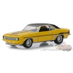 1969 Chevrolet Yenko Camaro in Daytona Yellow  - Mecum Auctions Series 3 - 1-64 Greenlight -  337170 C -  Passion Diecast