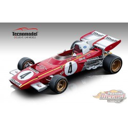 1971 Ferrari 312 B2, Monaco GP, Jacky Ickx - Tecnomodel 1/18 - TM18-121B - Passion Diecast