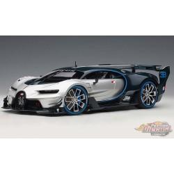 Bugatti Vision Gran Turismo - Silver with Blue Carbon  -  1/18 AUTOART  70987 - Passion diecast