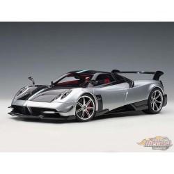 Pagani Huayra BC - Grigio Mercurio Silver / Carbon -  AUTOART -  1/18 - 78278 - Passion diecast