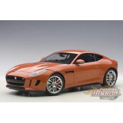 2015 Jaguar F-Type R Coupe - Metallic Orange - Autoart 1/18 -73653 - Passion Diecast