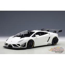 LAMBORGHINI GALLARDO GT3 FL2 2013 BLANCHE - Autoart 1/18 -  81358  - Passion Diecast