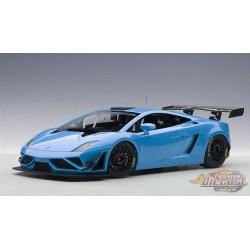 LAMBORGHINI GALLARDO GT3 FL2 2013 BLEU - Autoart 1/18 -  81359  - Passion Diecast