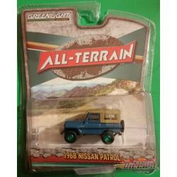 1968 Nissan Patrol in Mt. Fuji Blue  All-Terrain 9, 1-64 greenlight 35150 A