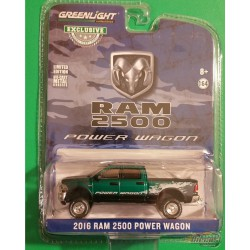 2016 Ram 2500 Power Wagon - Blue Streak Pearlcoat Hobby Exclusive  greenlight 29983 1-64