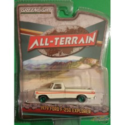 1979 Ford F-250 Explorer in White with Orange Stripes   All-Terrain Series 8   1-64 greenlight 35130 D