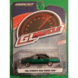 1968 Plymouth Road Runner Hemi in Buffed Silver GL Muscle Series 22 1-64  greenlight 13250 B