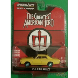 GREENLIGHT 1978 DODGE MONACO YELLOW GREATEST AMERICAN HERO 1//64 44810-A