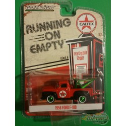 1956 Ford F-100 with Drop-In Tow Hook- Caltex -  Running on Empty 6 Greenlight 1/64  41060 A