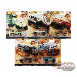 HOT WHEELS 2019 POP CULTURE DESERT RALLY SET Of  5 DIECAST CAR MODEL 1/64  - FPY86-956K - Passion Diecast