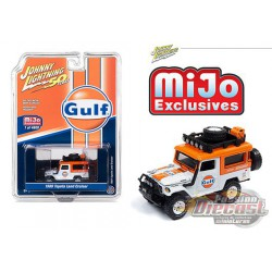 Toyota  FJ Land Cruiser Gulf  1980 - Johnny Lightning -  Mijo Exclusif  1:64 - JLCP7238 -  Passion Diecast